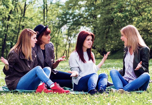 女性達で会話