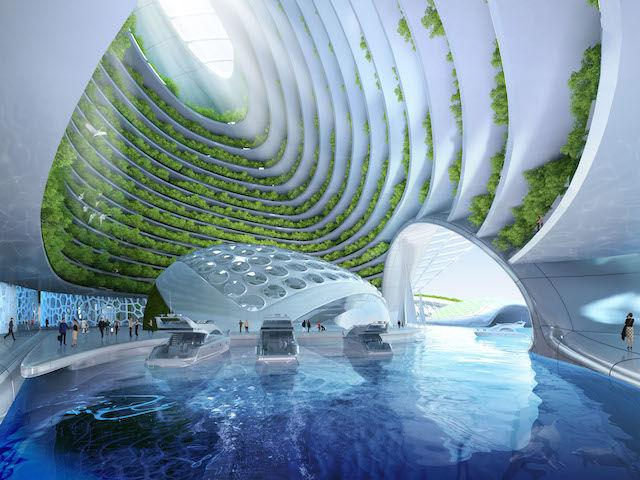 海洋ゴミを回収して建設 「海中都市」が近未来すぎる!