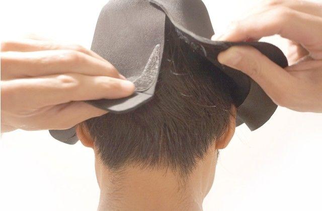 「お風呂専用ハット」汗をかいて、頭皮の洗浄を促す