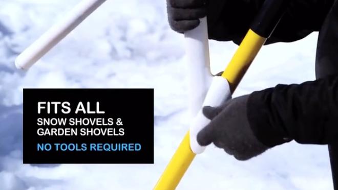 「雪かき」が驚くほど楽になるアイテム スコップに取り付けるだけ!
