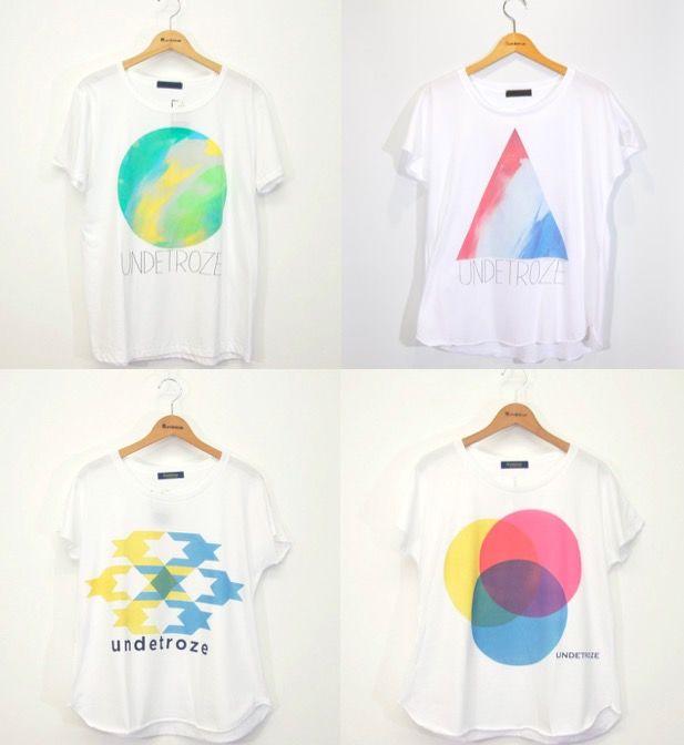 水彩のように色鮮やかなシルクスクリーンプリントTシャツ「undetroze」