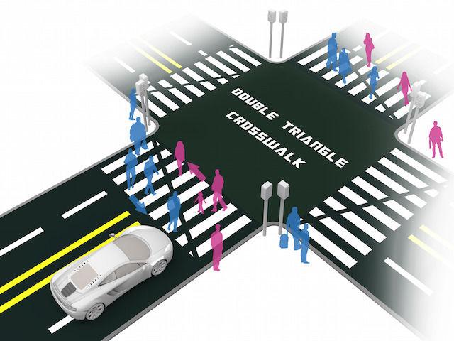 これぞデザインの力!人とぶつからない「横断歩道」が話題に
