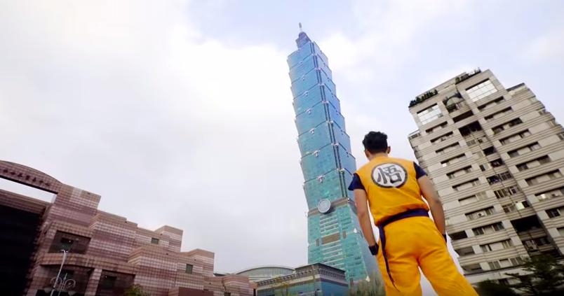 筋斗雲に乗った孫悟空が台北の街に出現(動画あり)