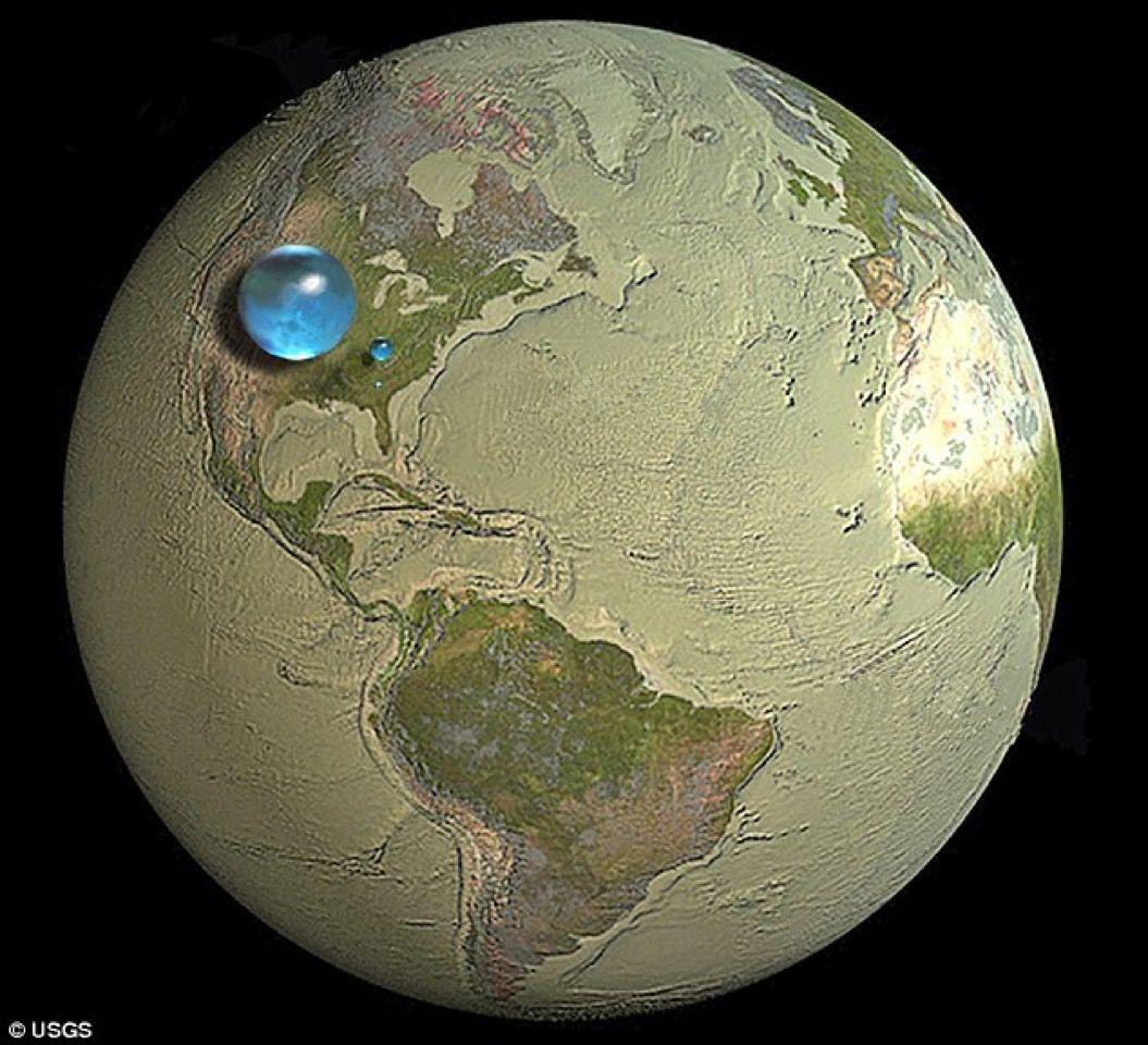 衝撃的な1枚の画像。地球上に「飲み水」は、たったこれだけしかない