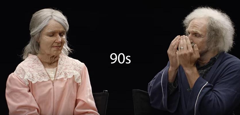 結婚を直前に控えたカップル。特殊メイクをして、お互いの「90歳の姿」を見たら・・・