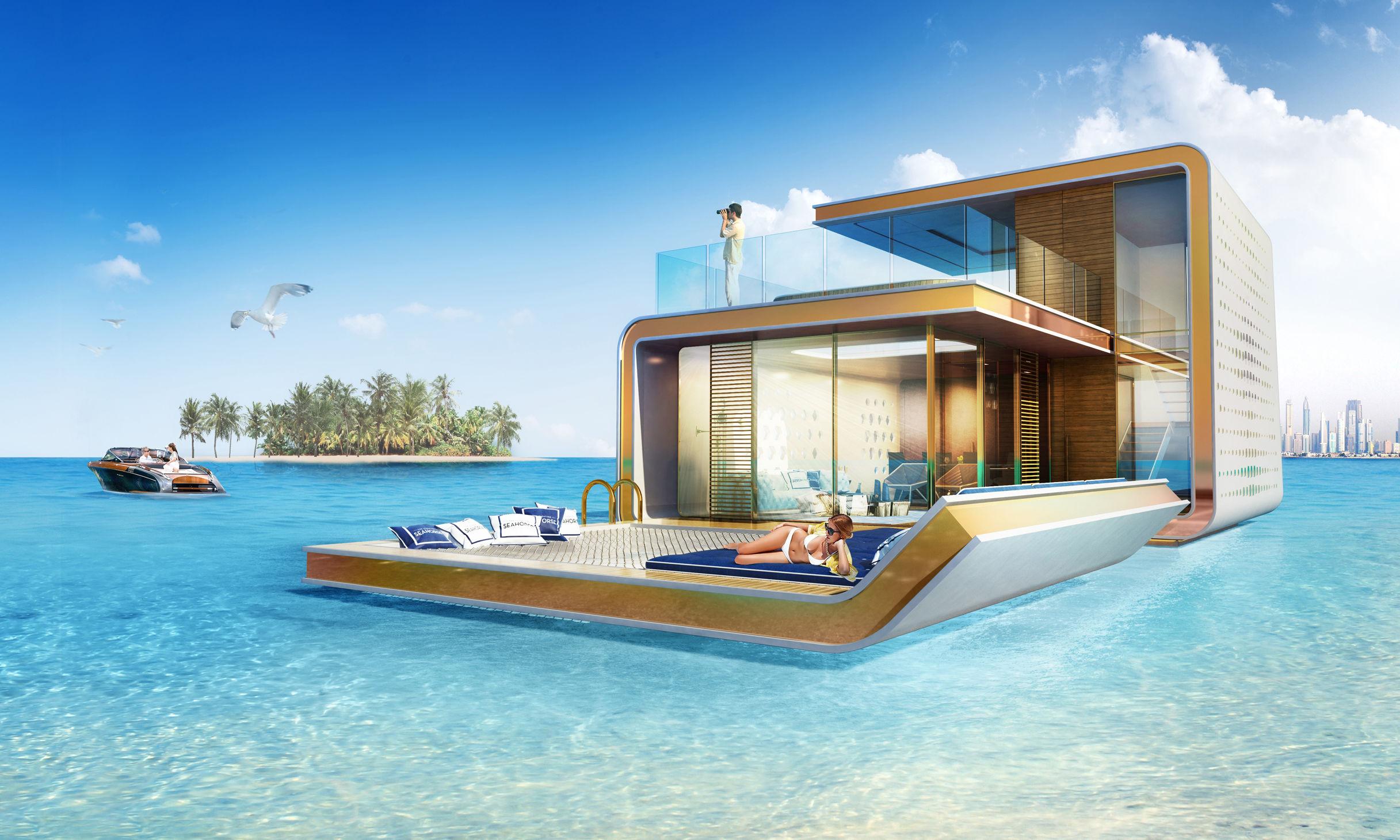世界一高いビルの次は「海に浮かぶ家」!?ドバイの建築が想像の斜め上を行っていた