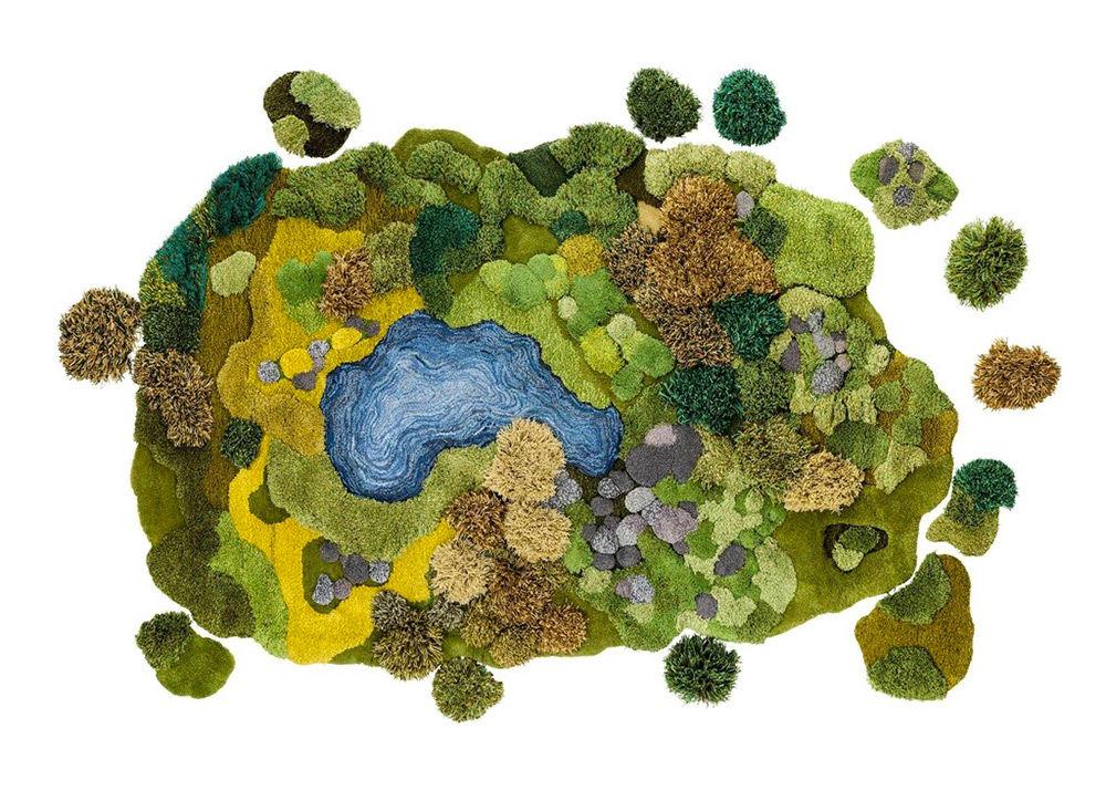 ゴロンと寝転びたくなる手編みの「芝生ラグ」がかわいい!