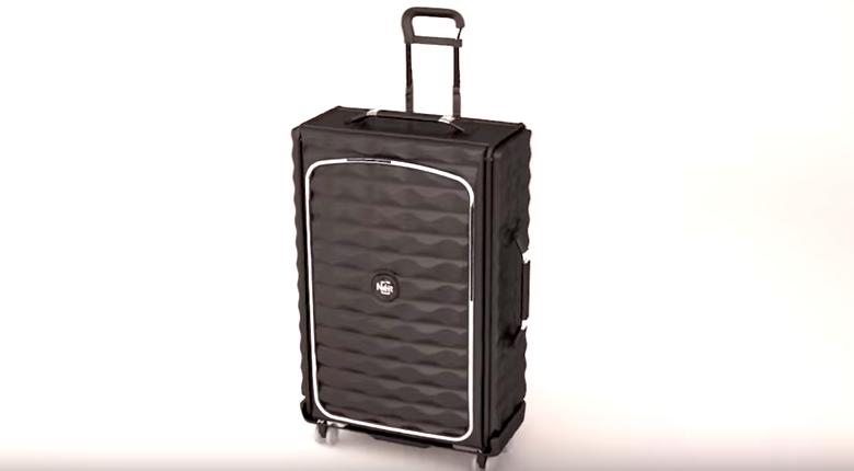 薄さわずか7.6センチ!?見た目も機能もスマートな折りたためる「スーツケース」