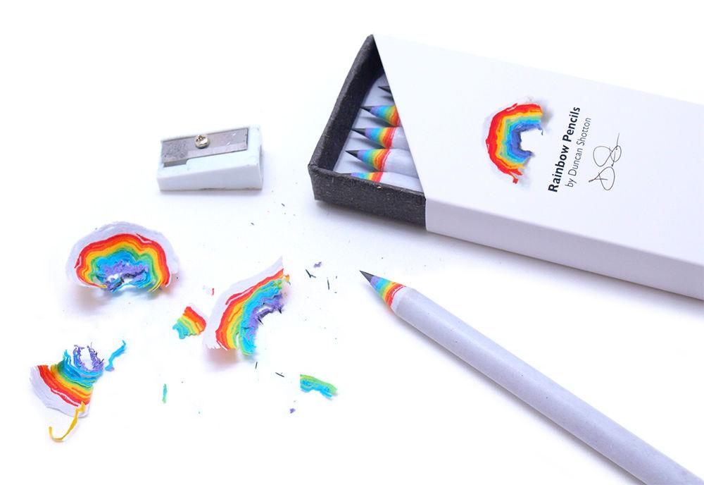 楽しくて削りすぎちゃう!? 「虹」が出てくる鉛筆がすごい
