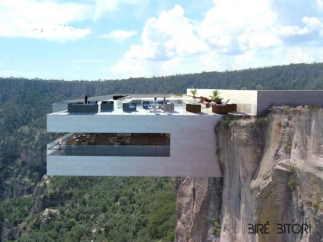 スリル満点!「絶景」と「絶叫」を同時に味わう、崖から突き出たレストラン