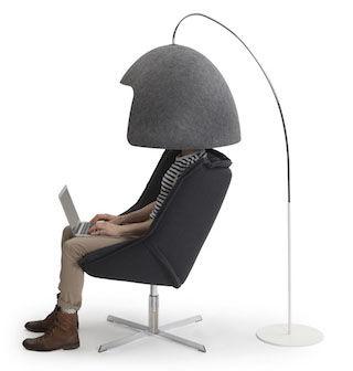 オフィスで大活躍!?「いま私に話しかけないでオーラ」が明らかなヘルメット