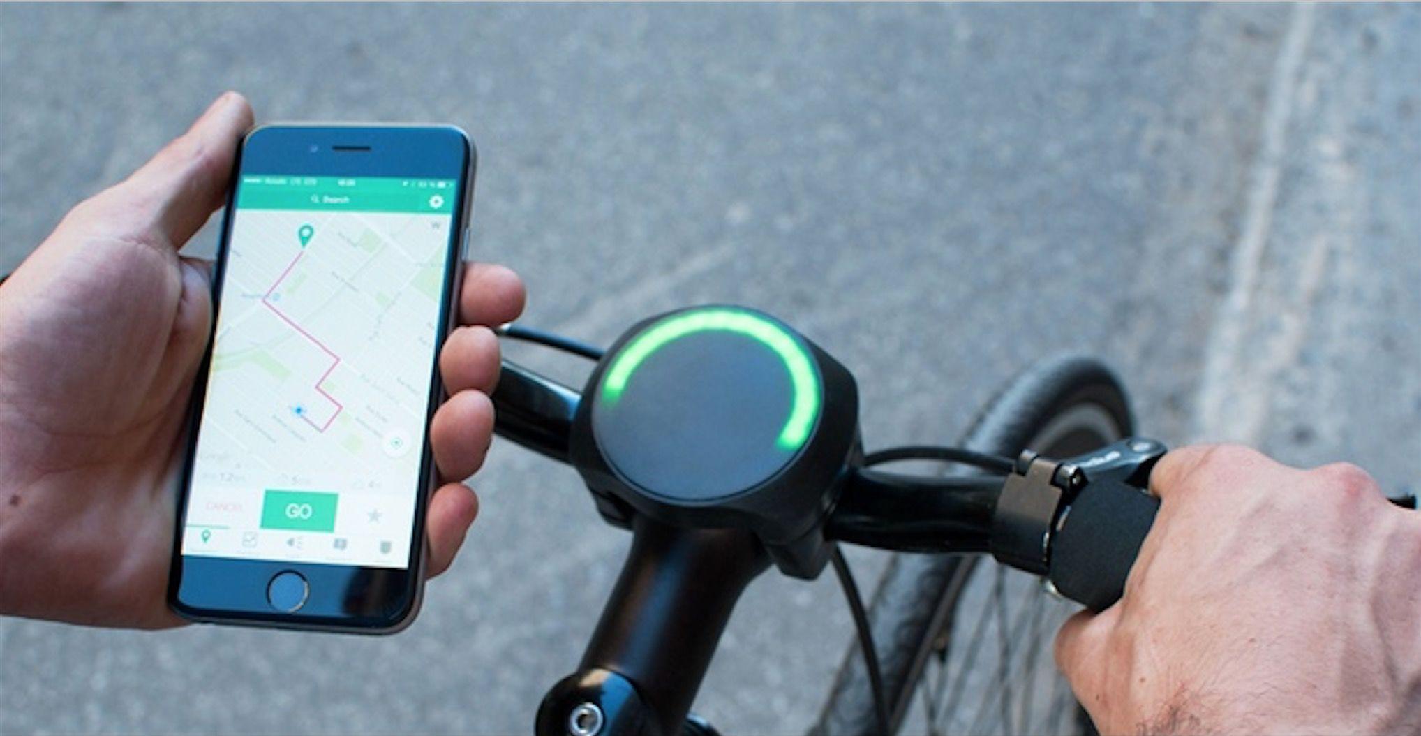 自転車に「ナビ・盗難防止・天候予測」などの機能を追加できるデバイス