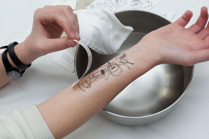料理レシピをTATTOOシールにして「手首に貼る」という、イタリア人的発想がナイス!