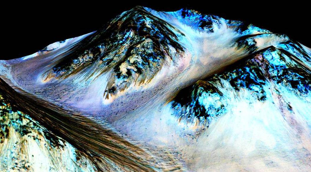 【速報】NASA「火星に塩水があることを確認、生命体がいる可能性も高い」