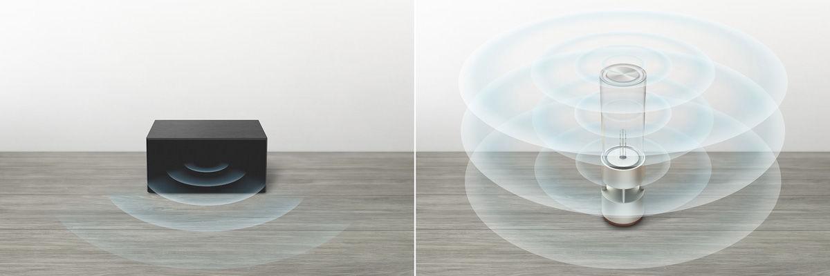 まるでランタン!有機ガラス管でできたスピーカーが美しい(Sony)