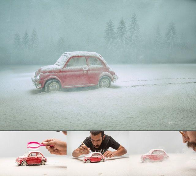 雪に包まれる赤いクルマ・・・じつは意外な秘密が隠されていました