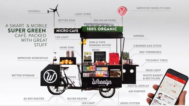 55万円でオーナーになれる!世界で一番ECOな自転車カフェ「Wheelys 4」