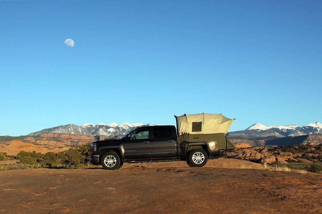 トラックに外付けできる「ドーム型テント」。斬新だけど機能性バツグン!