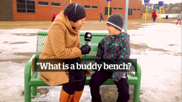 座っただけで友達ができる「緑色のベンチ」って何?カナダの小学校にいた子ども達にインタビュー!