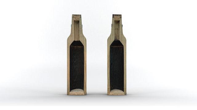 これは飲んでみたい!ウイスキーやワインを、数時間で熟成させる「木製ボトル」