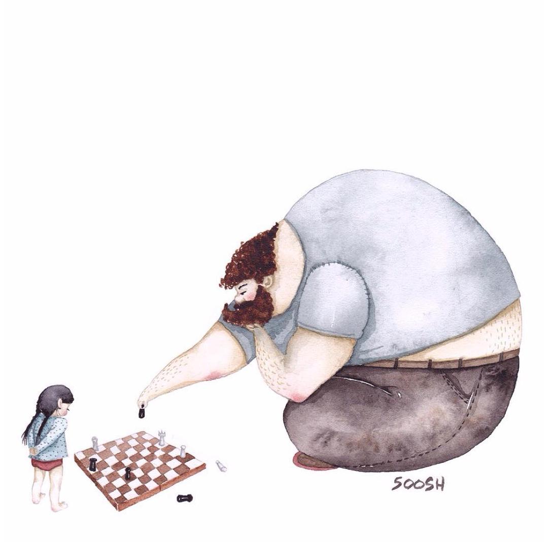 世界中を温かいキモチにさせた、「パパと娘の日常」を描いたイラスト13枚