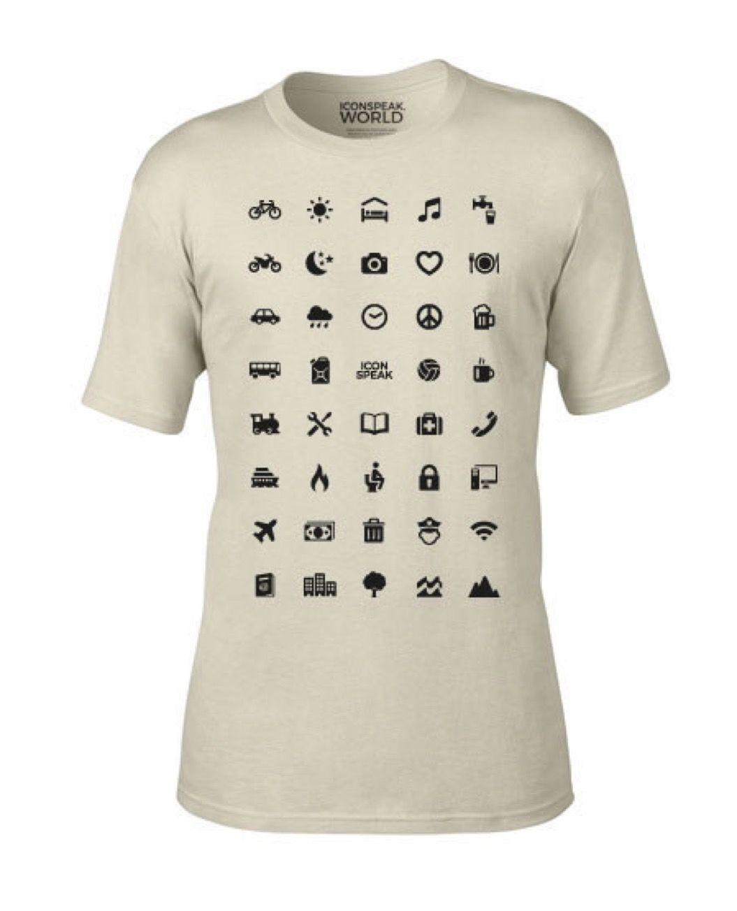 言葉が通じなくても大丈夫!「アイコン」で意思疎通できるTシャツがナイス