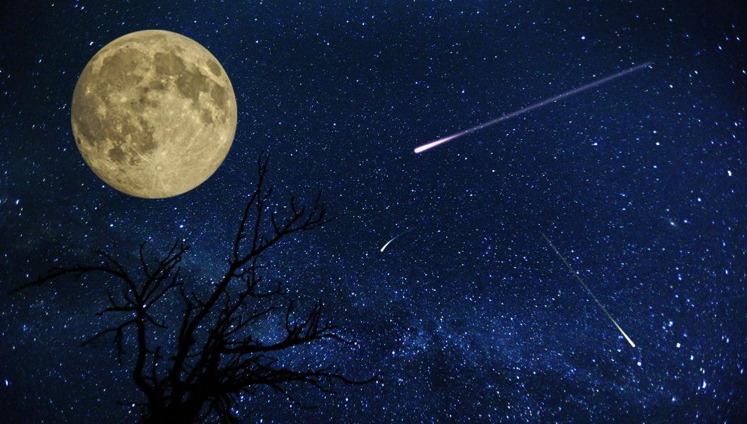 4月22日金曜日の夜は、「満月」と「こと座流星群」をダブルで楽しめるチャンス!