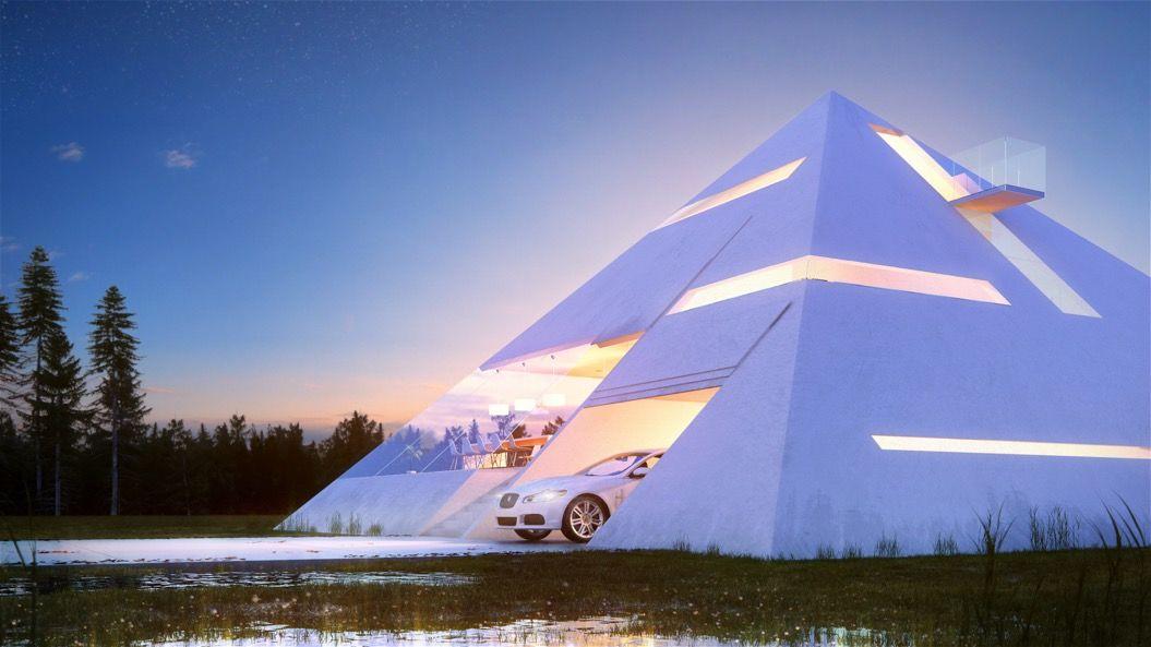 ピラミッド型の家に暮らすのも、イイかも!