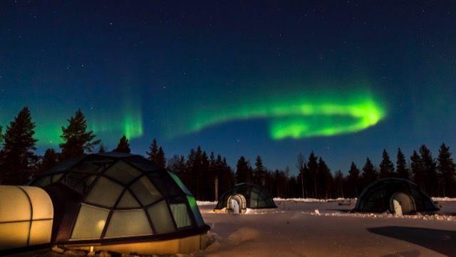 「オーロラ見ながら、おやすみなさい」フィンランドのガラス・イグルーに泊まりたい