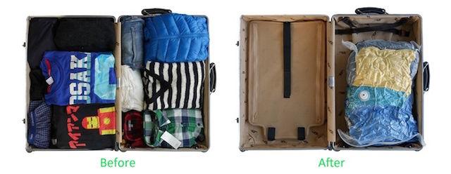 スーツケースにスペースを!衣類を見事に圧縮するデバイス「VAGO」が便利そう