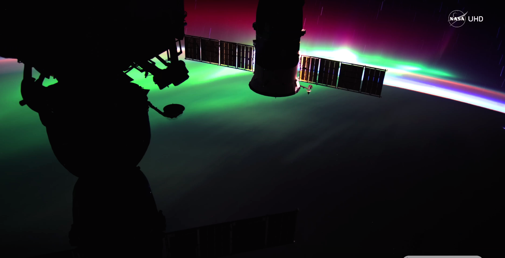 国際宇宙ステーションから「オーロラ」を捉えた4K動画(NASA)