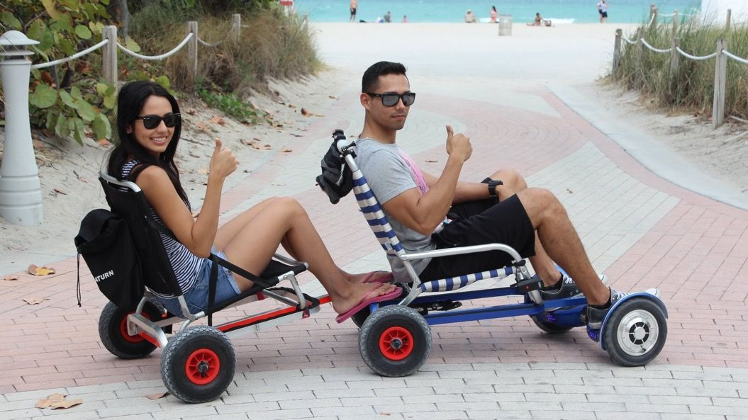バランススクーターに椅子を合体させたら、めちゃ便利だった!