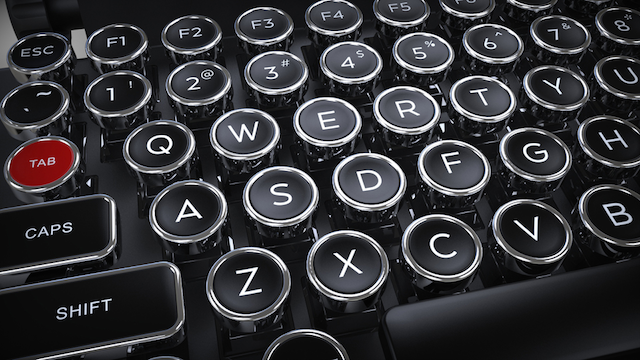 物書き気分を味わえる「タイプライター風キーボード」がたまらない!