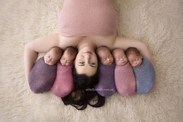 「ママと五つ子」ほっこり写真♡キュンキュンしないなんてムリ!