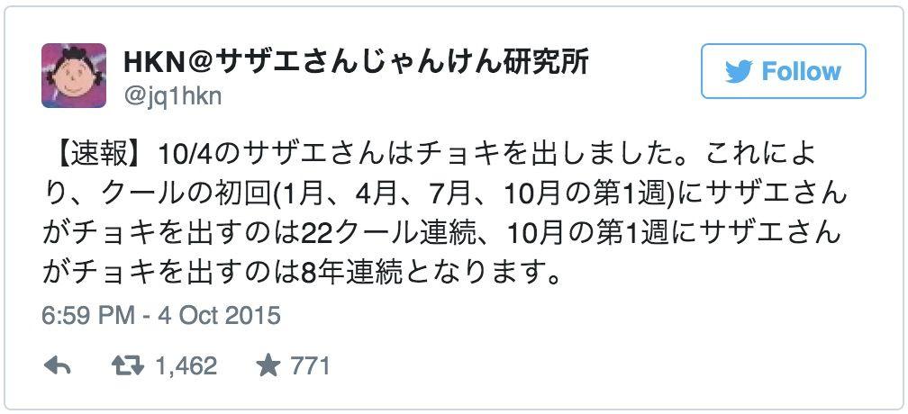 勝率87%超「サザエさんじゃんけん研究所」がスゴすぎる!