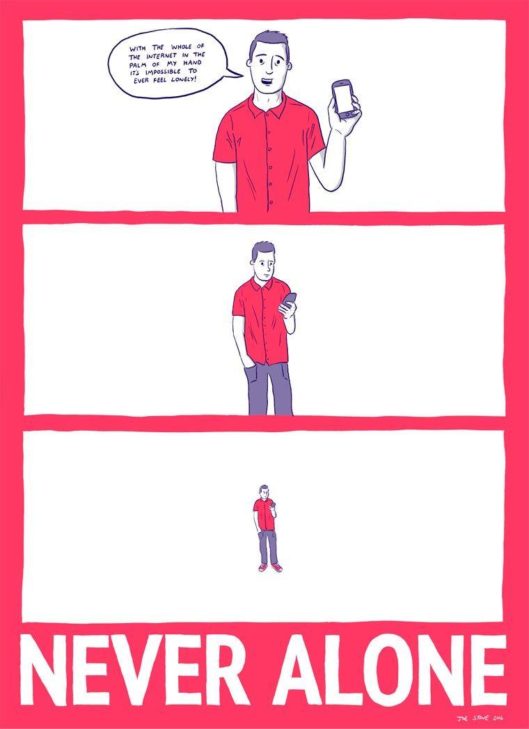 「風刺漫画」に見るSNS依存症。本当のつながりって、なに?