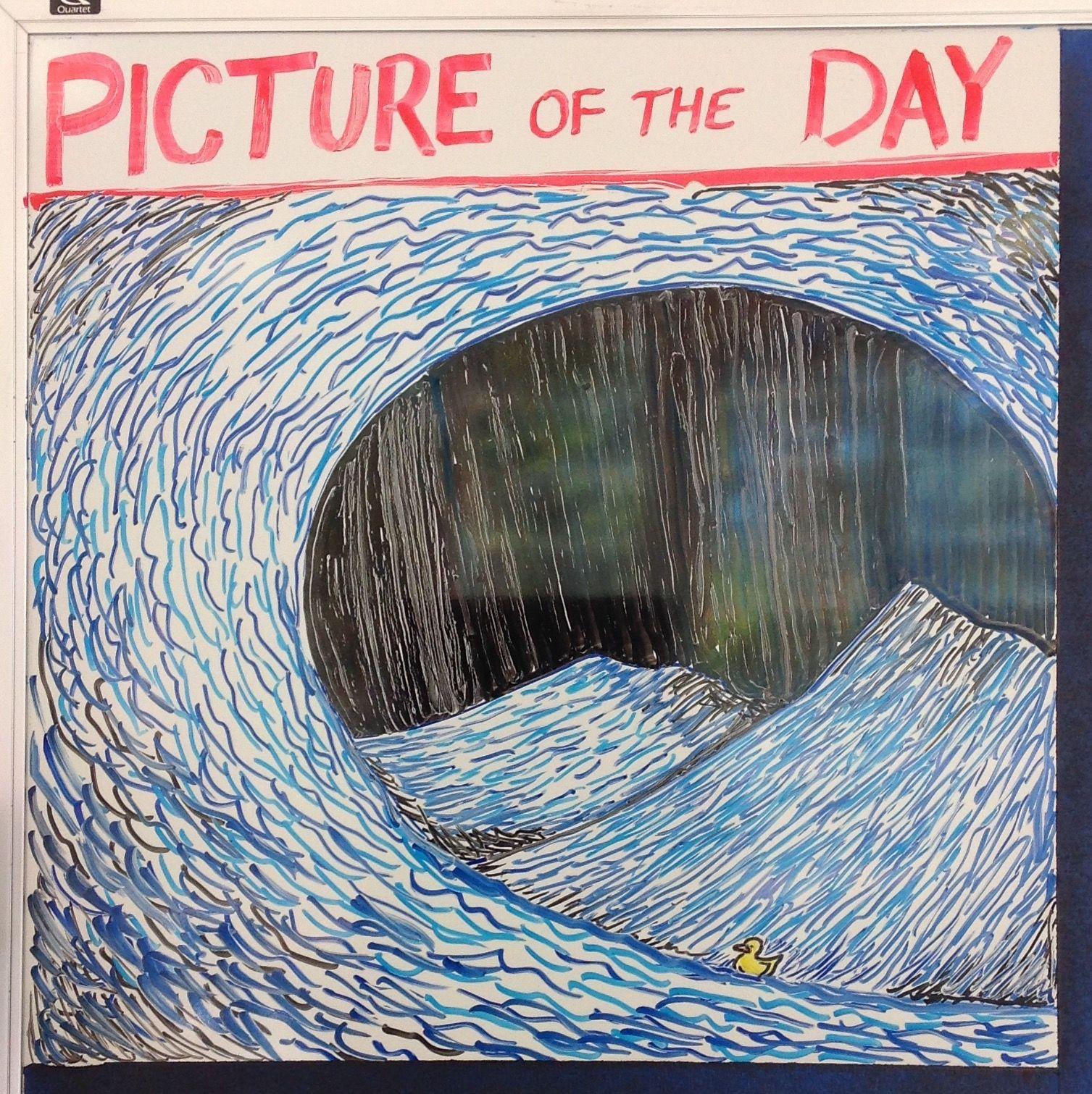 先生が授業前に描く今日の一枚『PICTURE OF THE DAY』