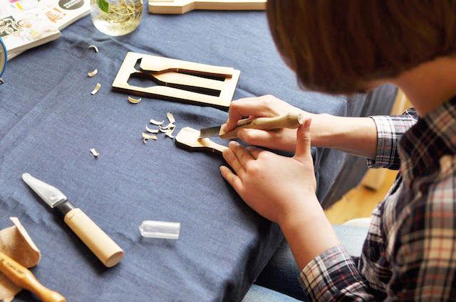 けずって、みがいて、つくるカトラリー。DIYは「ひとてま」を楽しむ時間
