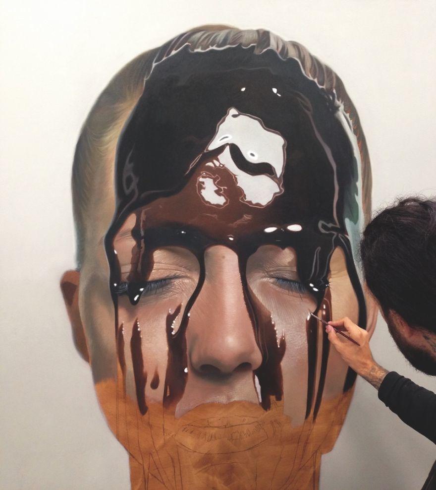 元タトゥーアーティストが描く、とろけそうな「ハイパーリアル」11枚