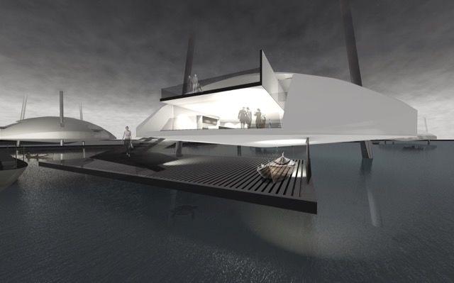 「格納式の脚」がついたモバイルハウスなら、海面上昇だってへっちゃら!?