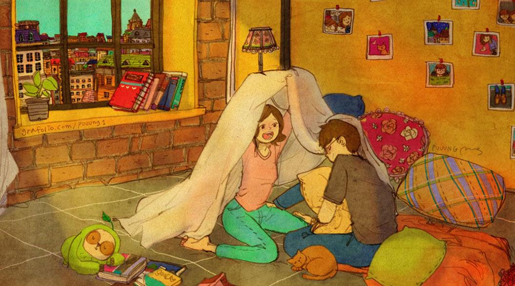 憧れるカップルの暮らし。