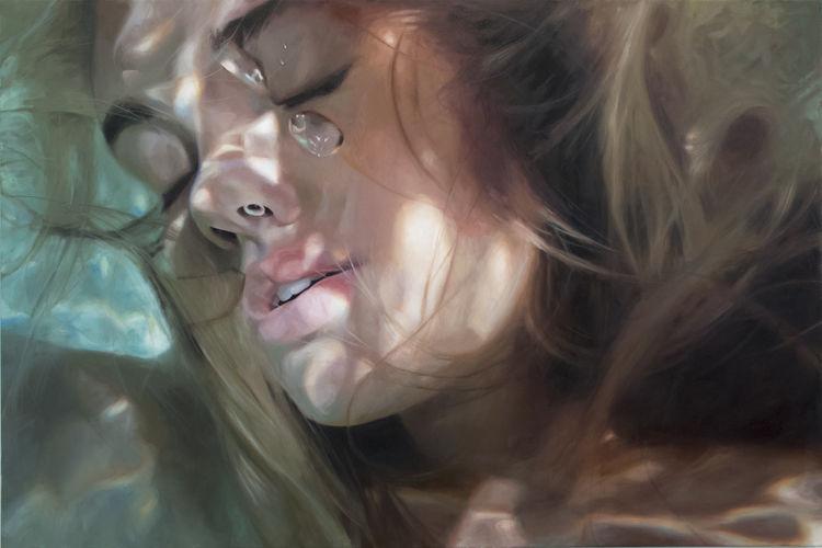プカプカ。コポコポ。プールに浮いてるあの感覚を、「油絵」で。