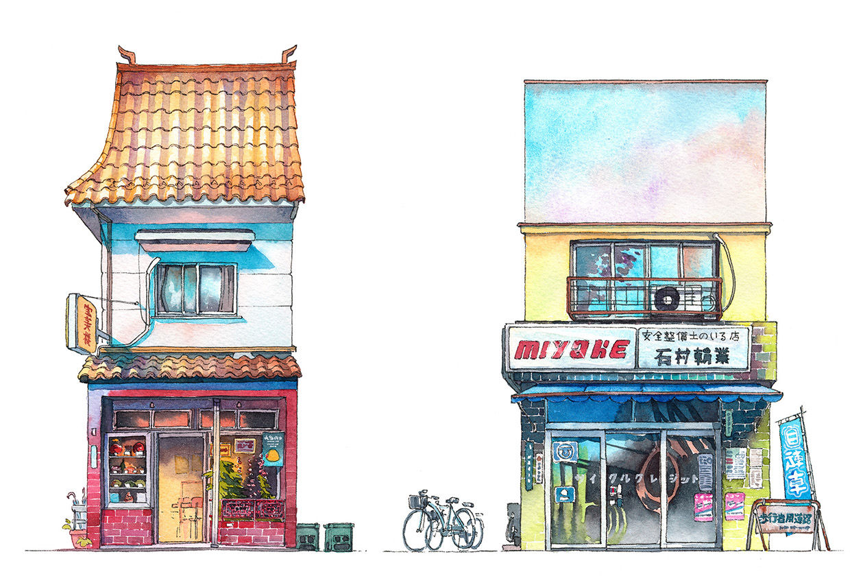 「東京へ引っ越して探検散歩をしてみたら、古い建物が多くてびっくりしました」。