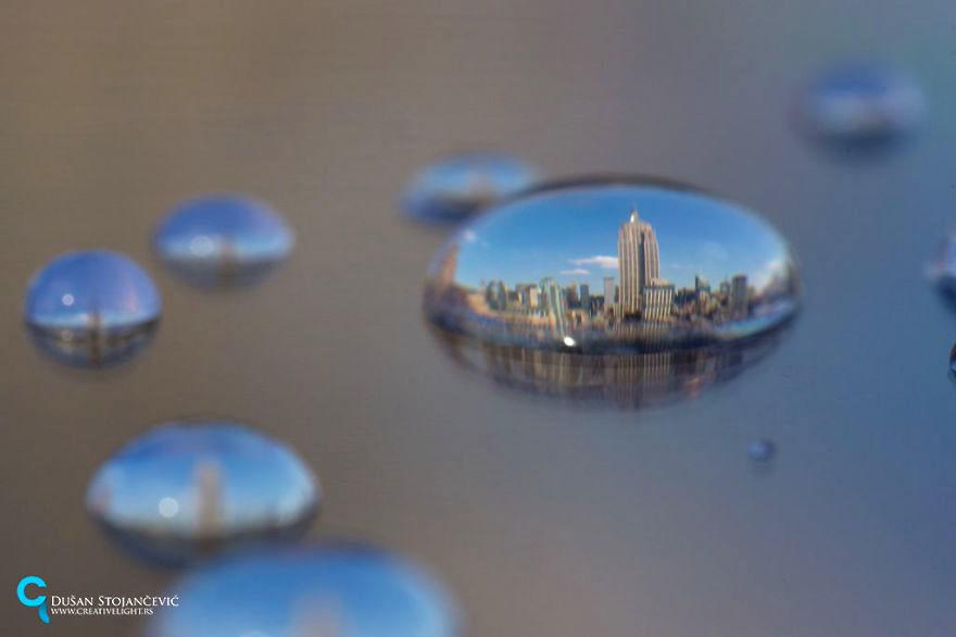 水滴の中に閉じ込めた世界は、こんなにも美しかった