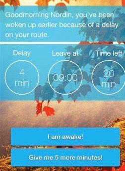 通勤ルートが渋滞→いつもより早く起こしてくれるアプリが登場。