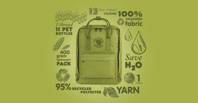 素材は11本の使用済みペットボトル。あの「Kanken」から、究極にエコなリサイクルバッグが登場!