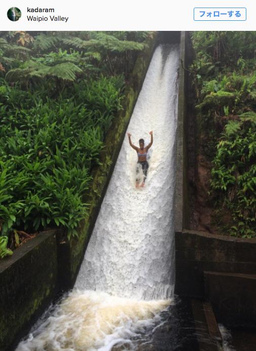 ハワイ島に観光客を惹きつける、立ち入り禁止の「ウォータースライド」があった
