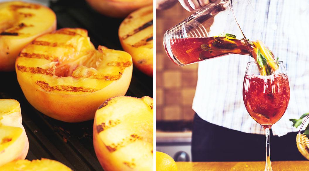 皮ごと焼いて香ばしさUP「焼きフルーツ」でつくるBBQサングリア