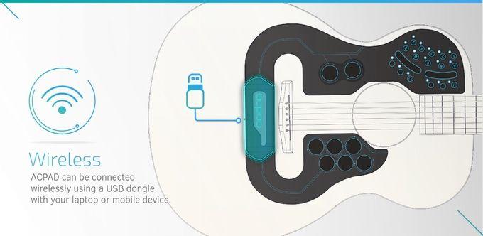 【ついに商品化!】ギターに貼るだけで、音が打楽器やシンセサイザーになるシール
