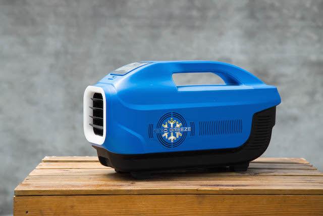 ポータブルクーラー「Zero Breeze」がアウトドアで大活躍。しかも、冷やすだけじゃない